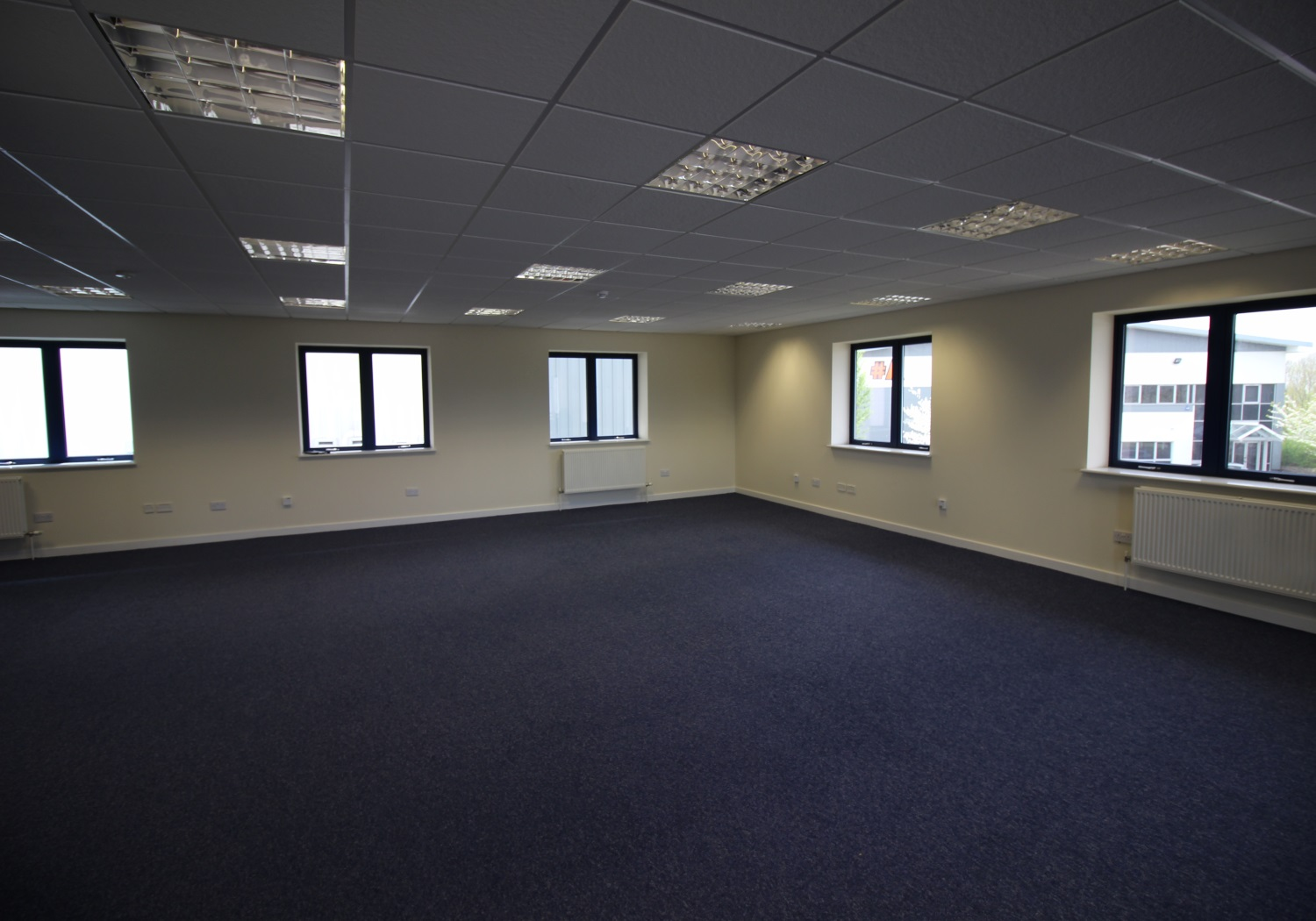 Modern part-let offices for sale.