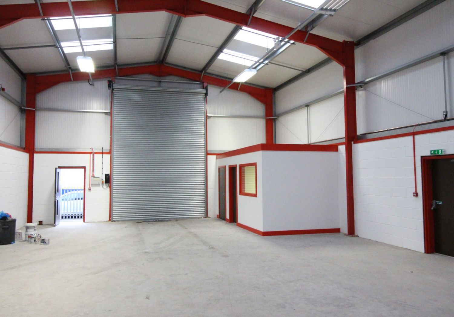Modern trade counter / workshop facility.