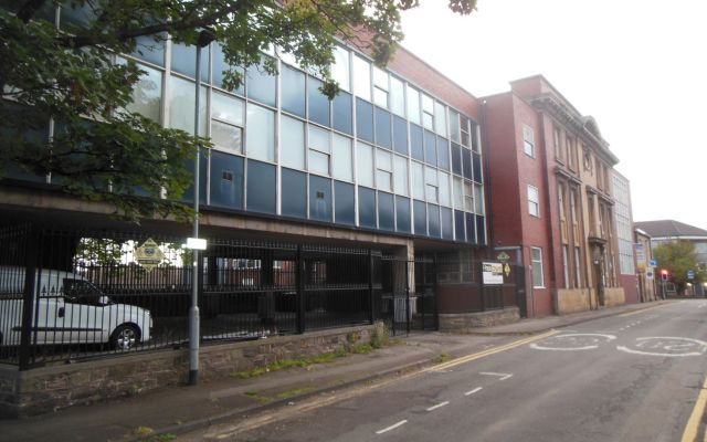 Substantial commercial premises for sale.
