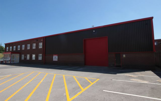 Modern, detached warehouse with offices, available to let.