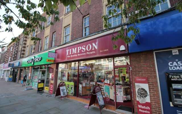 Highly-prominent two-storey town centre retail unit to let.