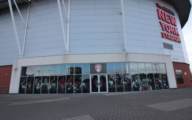 Two-storey commercial premises situated within the iconic New York Stadium.