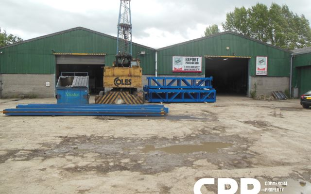Industrial units for sale, or to let separately or as a whole, with large secure yard.
