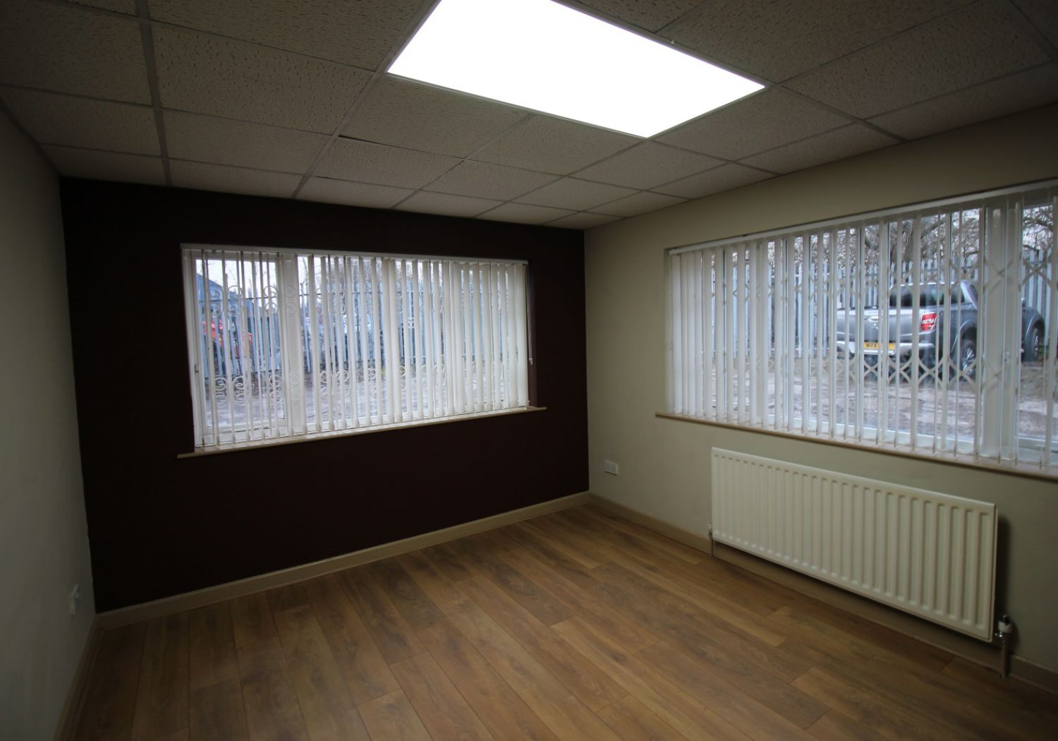 Office suites to let with on-site parking.